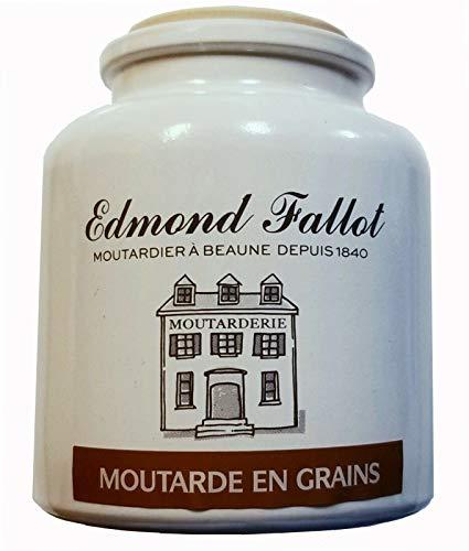 Moutarde de Dijon MEAUX grobkörnig, im Steintopf, Fallot, 250ml