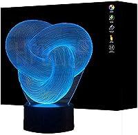 giyiohok3Dナイトライトクリエイティブウルフヘッド3Dベッドサイドベッドリビングルームで使用7色を変えるリモートコントロールタッチLEDデスクランプ-N30-N20