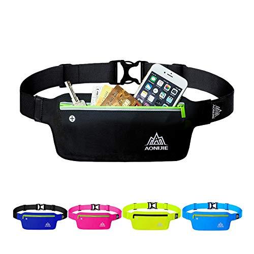 STARPROL Waist Bag for Sports Running Waterproof Running Belt Waist Bag Best Fitness Gear for Hands-Free Workout Freerunning Reflective Waist Pack Phone Holder Men, Women, Kids Running Accessories