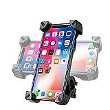 Soporte Movil Bicicleta Desmontable, 360° Rotación Soporte Movil Moto, Acero Inoxidable Anti Vibración Soporte Movil Bicicleta Compatible con iPhone 12 SE, Samsung S20 Ultra y Otro 4 - 7.2' Móvil
