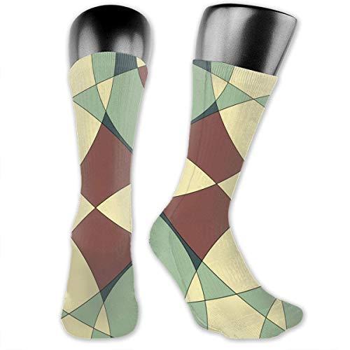 Bert-Collins Mural medieval Fondo Vintage Calcetines personalizados para mujeres y hombres, Medias medianas para correr, Atlético, Viajes, Uso diario