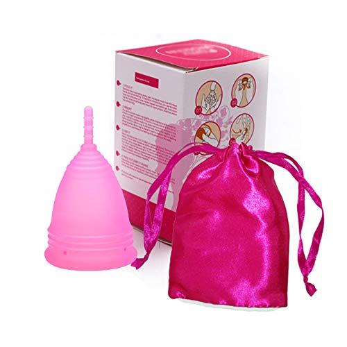 Coupe menstruelle Réutilisable,Rose, taille 1, eco cup menstruelle bio menstrual cup petit coupelle menstruelle, Silicone Médical tasse menstruelle period cup tasse de silicone pliable pour femme