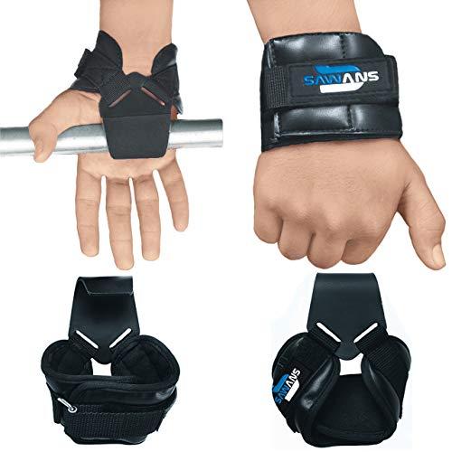 Cinghie da palestra per sollevamento pesi con gancio inverso per polsi e bodybuilding, allenamento