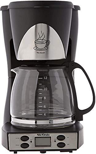 Mx Onda MXCE 2258-B Cafetera Goteo programable. Cafetera de Filtro para 12 Tazas Cafe, Coffee Machine. 1000W Cafetera Goteo 12 Tazas