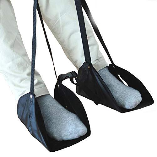 ZXLIFE@@@ Reishangmat, verstelbare hangmat voor voetsteunen, draagbare reis-accessoires, voetensteun voor vliegtuig, verlichting van vermoeidheid, licht, eenvoudig te bedienen