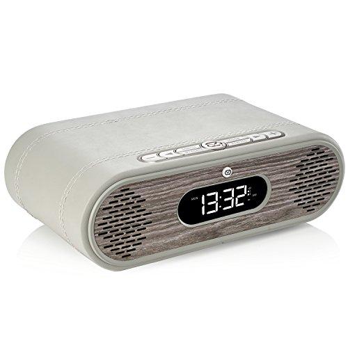 VQ Rosie-Lee DAB/DAB+ Digitale & FM wekker & Bluetooth-luidspreker - echt houten behuizing Grey & Limed Oak
