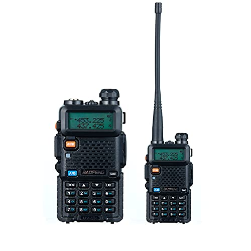 POSREHC UV-5R Two Way Radio Dual Band Long Range Portable Walkie Talkies Rechargeable Two Way Radios with Earpiece Flashlight (1 Pack)