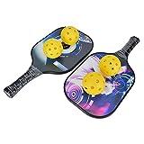 Saludable Barball Raqueta, 118mm 395x201x15mm Barball Vóleibol Bádminton con PÁGINAS Centro y Carbón Fibra