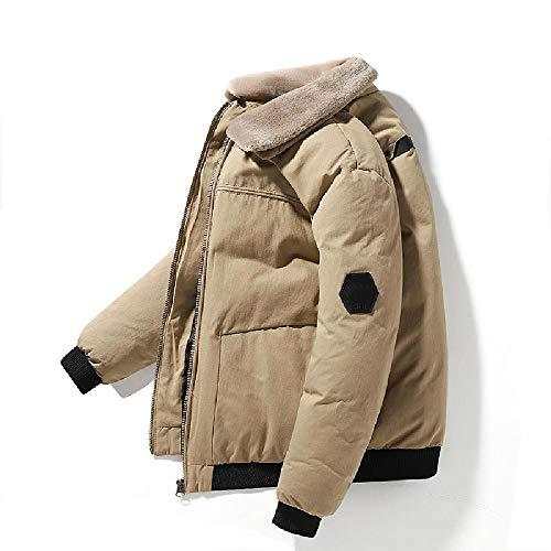 Chaqueta acolchada de algodón para hombre, tamaño grande de felpa resistente al viento, de algodón europeo y americano, para jóvenes
