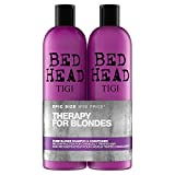 Bed Head by Tigi – Dumb Blonde, champú y acondicionador para pelo rubio, 2 x 750 ml