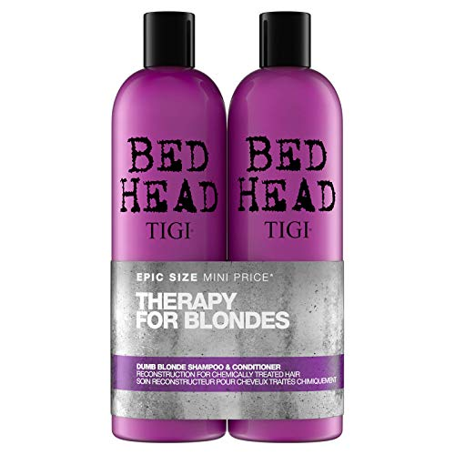 Tigi Bed Head Dumb Blonde Shampoo und Conditioner für blondes Haar, 750 ml, 2 Stück