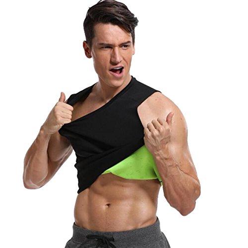 MISS MOLY Men Hot Sauna Sweat Vest Tummy Control Quema Grasa Adelgazar Shapewear Top Workout Fitness Fat Burner Faja Hombre Térmica Black S
