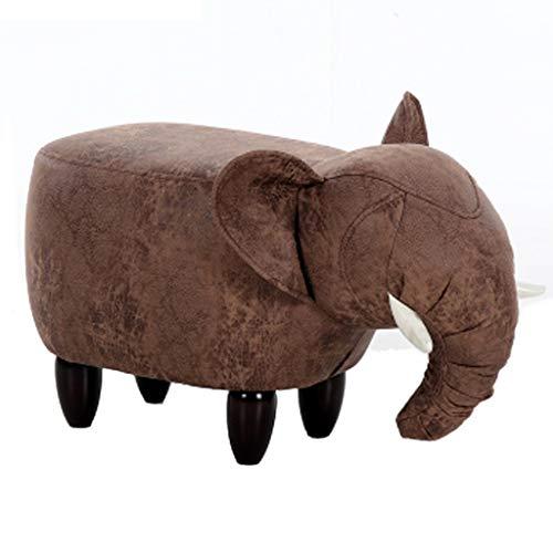 Petit Banc en Bois Banc De Chaussure D'éléphant Banc De Canapé Créatif Tabouret De Rangement Tabouret De Rangement pour Tabouret Bas Tabouret De Dessin Animé (Color : Brown/a)