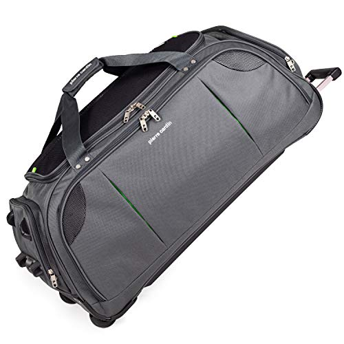 Lightweight Large Holdall with Wheels - Roller Bag by Pierre Cardin | Durable Stress Tested Skate Wheels | Trolley & Grab Carry Options | Travel Wheeled Duffle Bag CL769 (Large Grey 30')