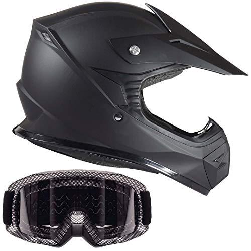 Typhoon Kids Youth Offroad Helmet & Goggle Gear Combo