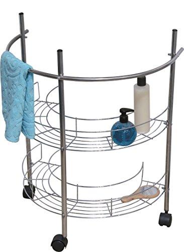 Meuble dessous lavabo Roulette Argent