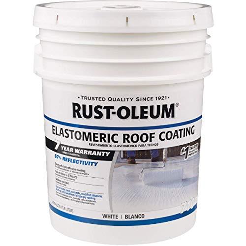 Rust-Oleum 7 Year Elastomeric Roof Coating Waterproof Paint (18 L, White)