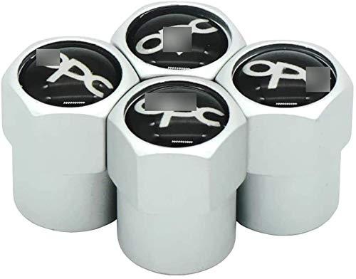 4 Piezas Coche Tapas para Válvulas, para OP-EL OPC Corsa Insignia Antara Meriva XXX Neumático Automóvil Tapones Válvula Tapones Neumatico