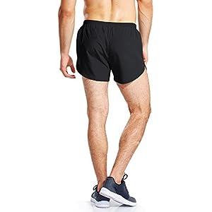 BALEAF Men's 3 Inches Running Shorts Quick Dry Gym Athletic Shorts Black Size XL