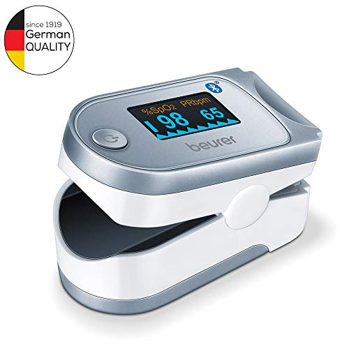 Beurer PO60 Pulse Oximeter with Bluetooth | Measures Heart Rate and...
