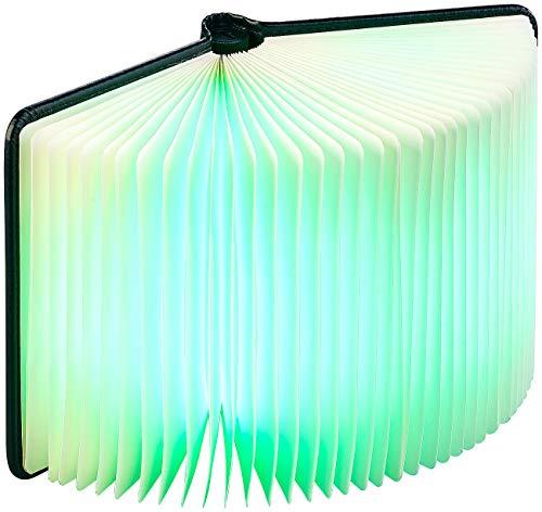 Lunartec Buchlampe: Klappbare LED-Stimmungsleuchte im Buch-Design, 5 Farben, 0,2 Watt (Buchleuchte) - 2