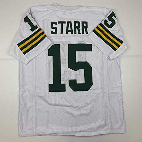 Unsigned Bart Starr Green Bay White Custom Stitched Football Jersey Size XL New No Brands/Logos
