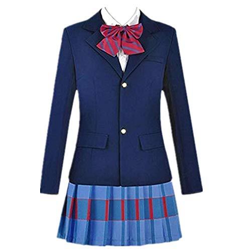 School Uniforms Japanese Anime Love Live Cosplay Costumes Blazer+Skirt + 3 Piece Neck tie (Female XXL)