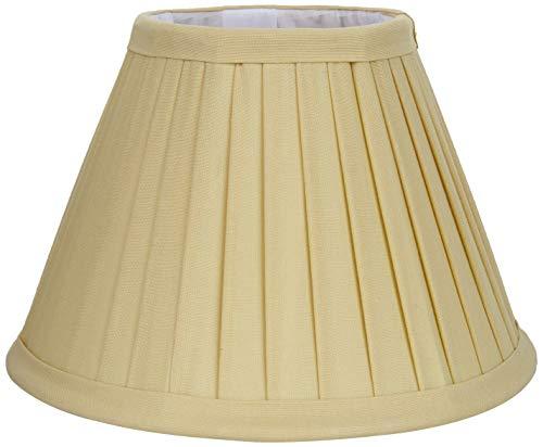 BETTER & BEST Q B&B Q BETTER & BEST Pantalla de lámpara de algodón, de 20 cm, Tabla Estrecha, Color Amarillo