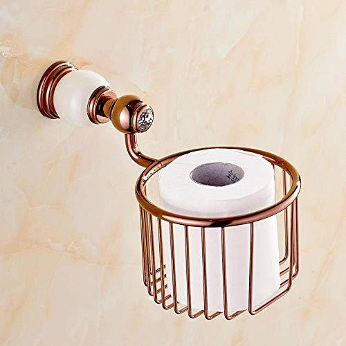 Toilettenpapierhalter Rose Gold Papierhandtuch Korb Jade Kupfer Papierhandtuch Toilettenpapierhalter Boîte de mouchoirs Punsch Wei szlig;e Jade