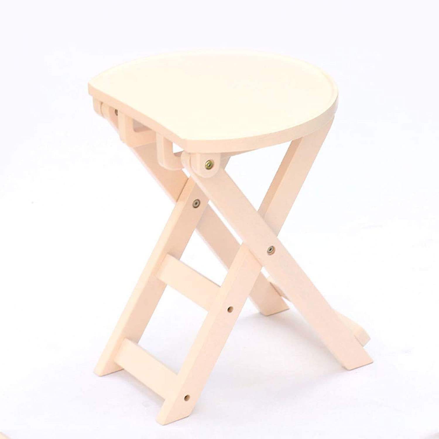HY Stool Rubber Wood Folding Portable Stool Home Living Small Bench (color   White, Size   L36CMXW24.5CMXH43CM)