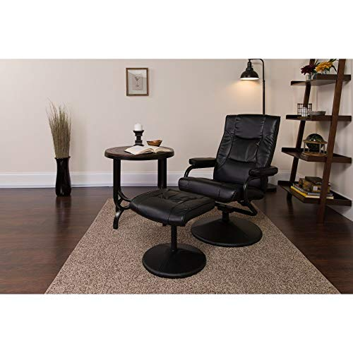 Flash Furniture BT-7862-BK-GG Contemporary Black LeatherSoft...