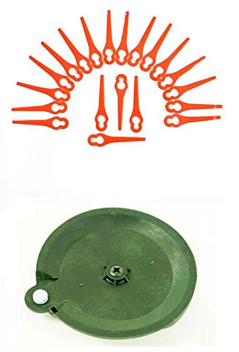 20 cuchillos y 1 disco de corte para su desbrozadora Florabest LIDL FAT 18 B3 IAN 273039.