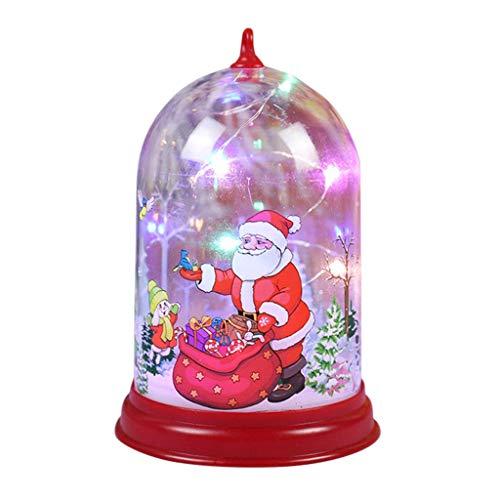 XXLYY Luces LED de Navidad Linternas de Navidad para exteriores Lámpara de vela Luz de noche Luces de decoración navideña, Lámpara luminosa portátil de Navidad Adornos colgantes de vacaciones Muñeco d