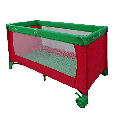 Asalvo 11015.0Cuna de viaje Baleares rojo y verde