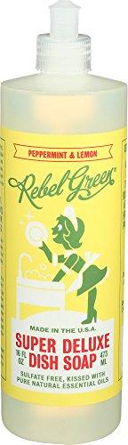 Rebel Green Dish Soap Peppermint Lemon, 16 oz