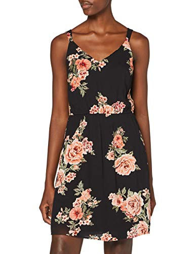 ONLY Female Kleid ohne Ärmel Blumenprint 36Black 2