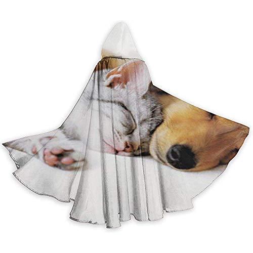 Coccole Animale Gatto Cane Tunica per Adulti Cavaliere con Cappuccio Costume da Mantello di Halloween Abito di Natale Natale, 59 Pollici (150,40 cm)