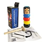 Hehilark Wooden Man Magic Toy Stubborn Wood Man Magic Trick Props Niños Niños Magia Gift Juguete irrompible