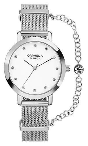 Orphelia Fashion Damen Analog Quartz Uhr Diva mit Mesh Edelstahl Armband