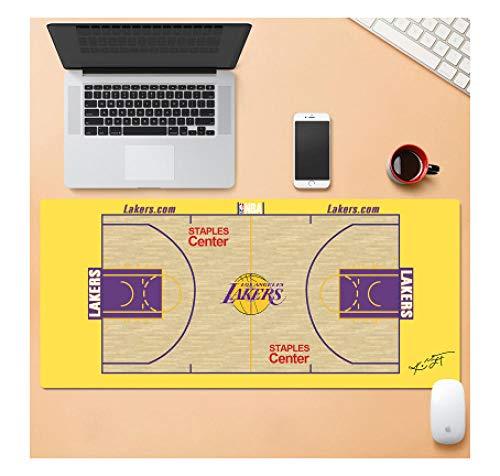 Tappetino per mouse da gioco NBA All-Stars Lakers   Tappetino per mouse XXL   Base spessa 3 mm Precisione e velocità perfette-800 * 300 * 3 mm