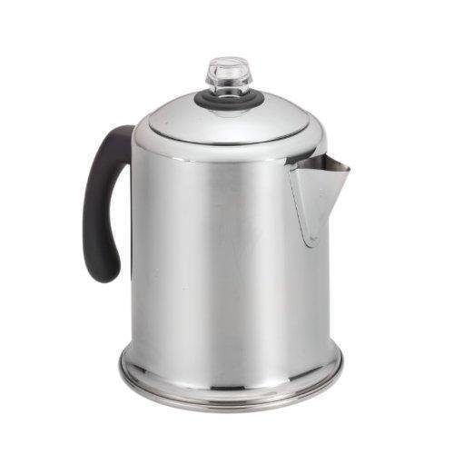 Stainless Steel 8-cup Coffee Maker Percolator Stove Top Brewer Pot