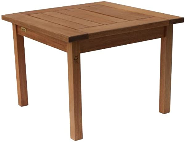 Amazonia Milano Square And Solid Side Table Super Quality Eucalyptus Wood Perfect For Gardens And Patios