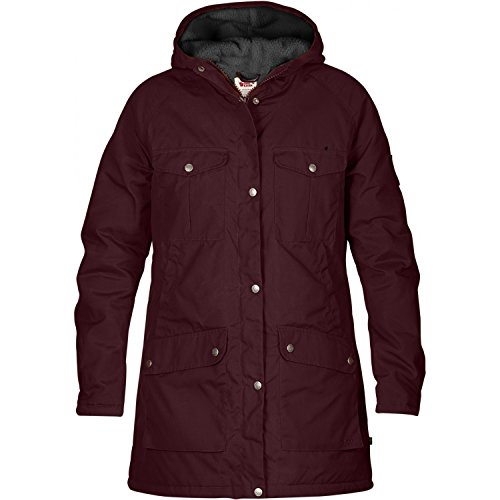 FJÄLLRÄVEN Damen Greenland Winter Parka, Dark Garnet, S