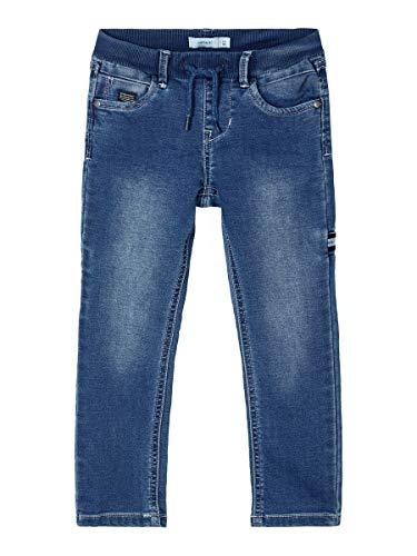 NAME IT Jungen NMMROBIN DNMTOBOS 3389 SWE Pant NOOS Jeans, Dark Blue Denim, 98