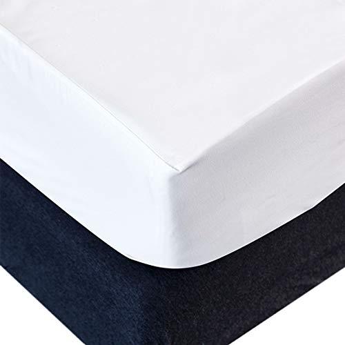 RongXi Coprimaterasso Impermeabile Singolo Tranquillo Proteggi Traspirante Sottile Tessuto Pongee Anallergico Antiacaro Fodera per Letto Materassi 80 x 200/190 cm