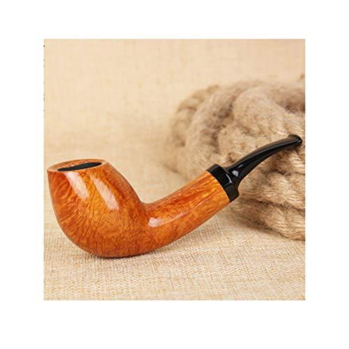 WXYLJ Pipa de fumar de madera maciza, hecha a mano clásica Brier tabaco tubo de filtro recto titular de cigarrillo para hombre juego de fumar portátil y lavable