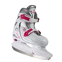 powerful American Athletic Shoes Adjustable Figure Skating Shoes, White, Medium / Size 1-4, 6-8 years old