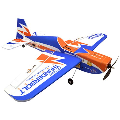 deguojilvxingshe KEYIUAV SBACH 342 RC Aircraft, Ready to Fly Beginner Model Airplane, 3D Aerobatic Glider Fixed Wing Aircraft With Manual/Self-stabilizing Mode (900mm)
