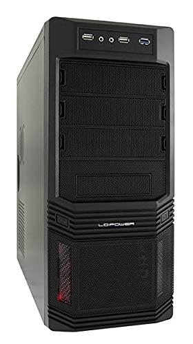 LC-Power Pro-925B Midi-Tower PC-Gehäuse inkl. 600W (3X 5,25 Externe, 3X 3,5 interne, USB 3.0)
