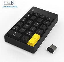 Numeric Keypad Mechanical, Wireless Number Pad 2.4GHz 22 Keys Mini USB Keypad for Laptop